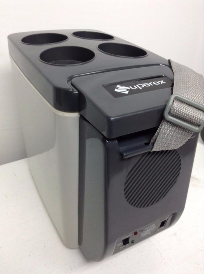 12V Car Small Refrigerator Mini Fridge Cooler/Warmer Grey/Black Charger Included
