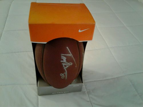 Troy Brown Autographed Football Spiral Tech 1000 Authentic New England Patriots