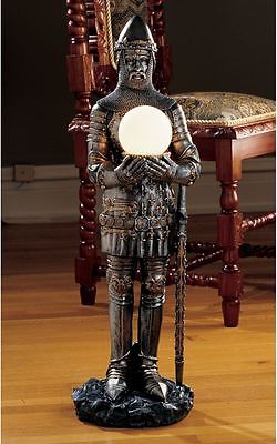 Medieval Gothic Knight Replica Illuminated Statue Sculpture Lighted Figurine NEW