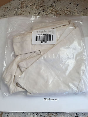 Longaberger Oval Laundry Basket Liner Natural EUC