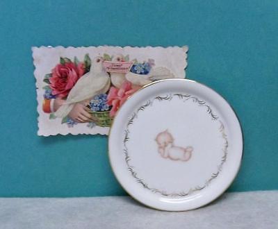 Kewpie Plate ~ Hand Painted Kewpie ~ 3 7/8 Inch Porcelain Plate Artisan Made