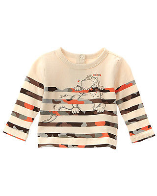 Chicco Boys' Natural Stripe Dino Top