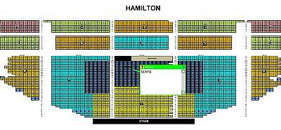 2 Hamilton Tickets At Pantages Saturday 10/21 8PM Orchestra Center (TT 103-104)