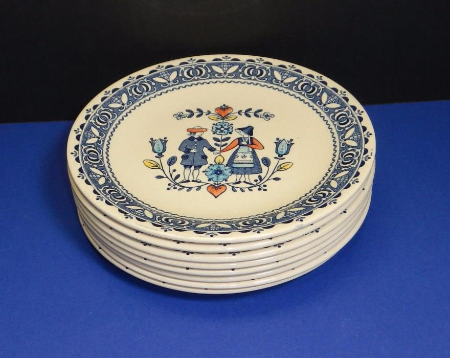 Johnson Brothers Hearts & and Flowers set 8 bread dessert 6 3/8