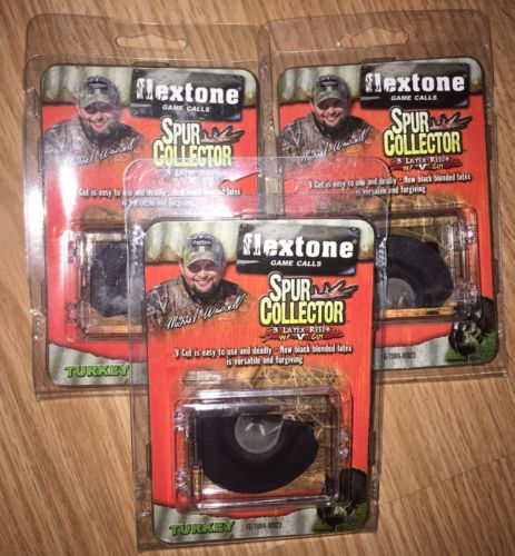 3-Flextone Game Calls Spur Collector Turkey Mouth Calls w/Cases-FREE SHIPPING!