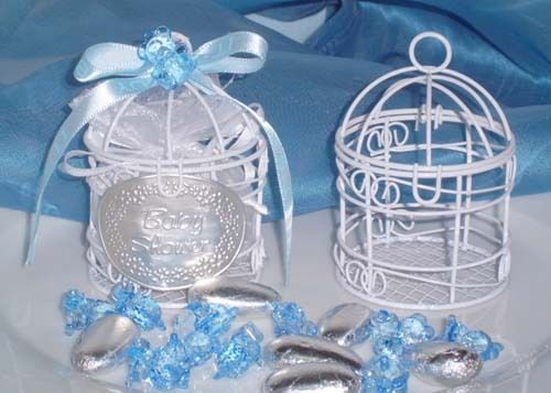 Small Wire Bird Cage Favor White (10 PIECES)