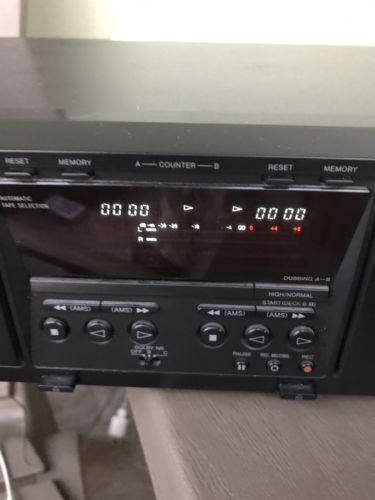 Sony TC-WE475 Dual Cassette Player Recorder TESTED & WORKING