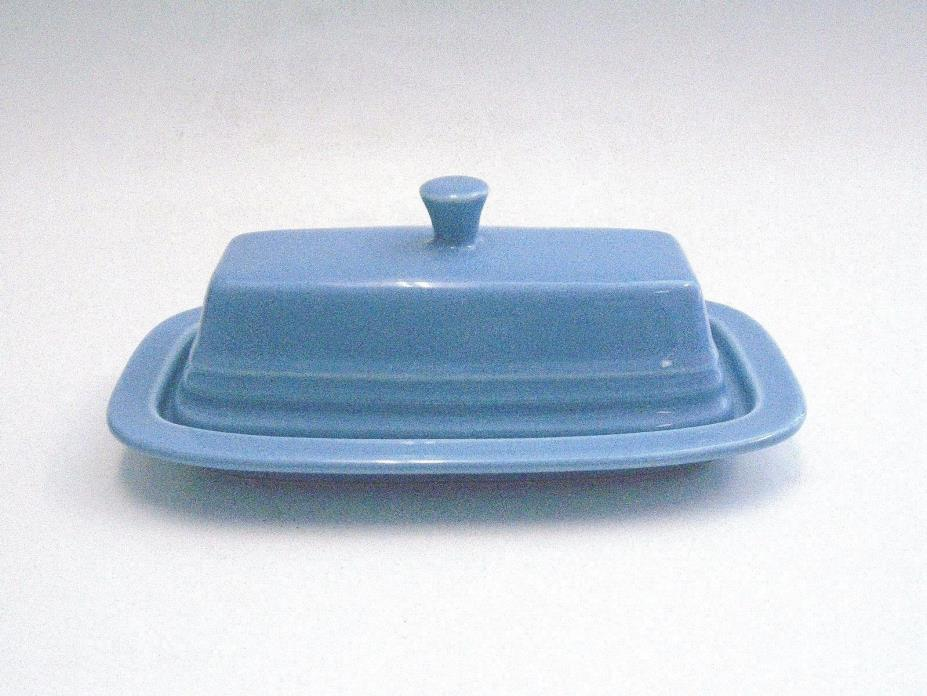 Vintage Fiesta Ware Lapis Butter Dish Excellent Condition A Must See, Must Own!!