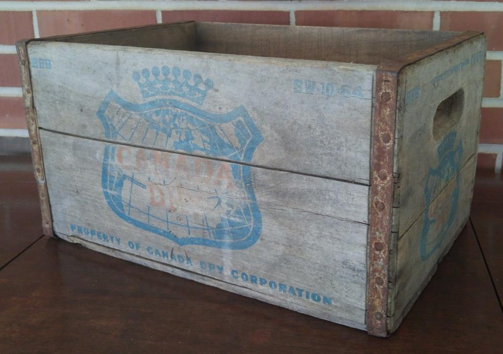 Canada Dre Ginger Ale Wood Soda Bottle Crate Case SW-10-64