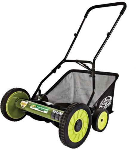 Sun Joe Reconditioned Manual Reel Mower Grass Catcher Comfortable Foam Grip New