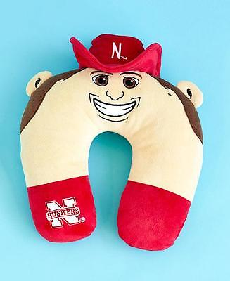 NEBRASKA CORNHUSKERS COLLEGIATE MASCOT TRAVEL NECK PILLOW ALMOHADA SCHOOL LOGO