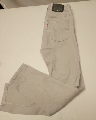 Levi's 510 Gray Skinny Jeans 14 Regular 27x26.5  Youth Boys. Red tab.