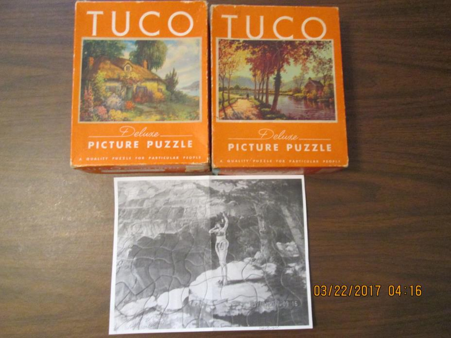 Mixed Lot 3 Vintage Tuco Deluxe Jigsaw Puzzles Non-interlocking