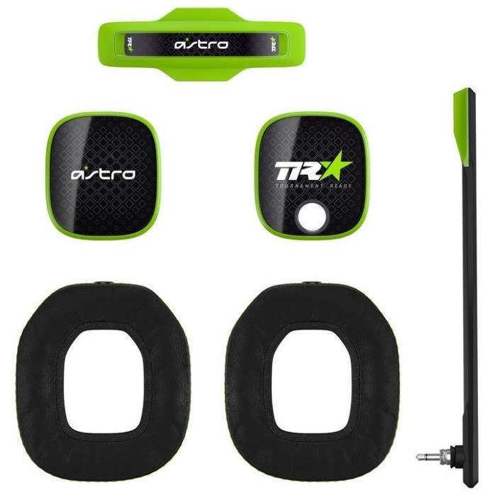 Astro A40 Mod Kit - Green - Noise Cancelling Ear Cushions - Voice Isolating Mic