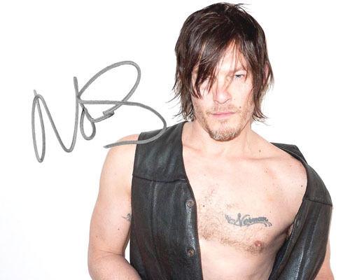Daryl Dixon Norman Reedus the Walking Dead 7 Signed Photo Autograph Reprint 563