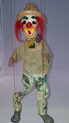 Vintage Mexican Clown Puppet/Marionette Papier Mache Head