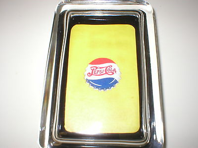 Pepsi Cola Soda Pop Bottle Cap Yellow Sign Color Logo Glass Paperweight