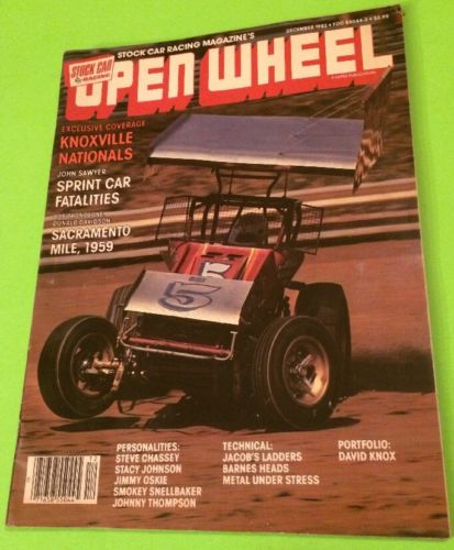 OPEN WHEEL STOCK CAR RACING MAGAZINE, DECEMBER 1982, RACE CARS, DIRT CARS, INDY
