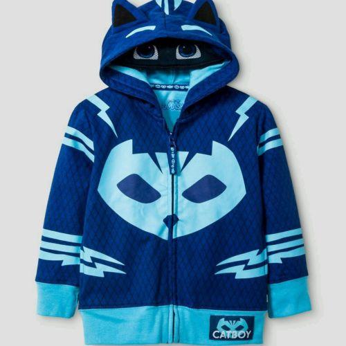 Frog Box PJ Masks Toddler Boys' Catboy Hoodie Costume Sweatshirt - Blue SZ 2T