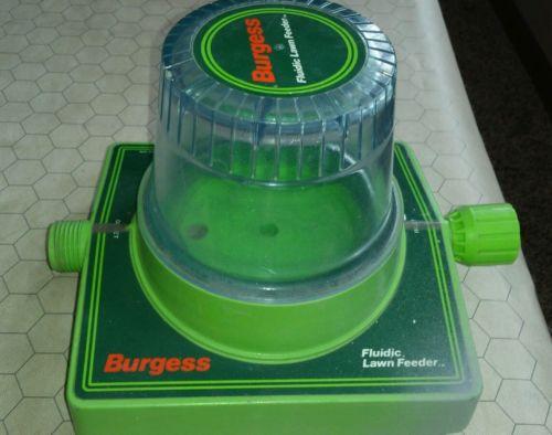 Burgess Fluidic Lawn Yard Care Feeder used