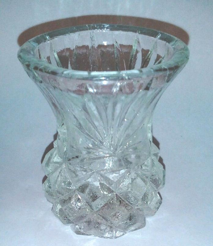 Pressed Glass Toothpick Holder