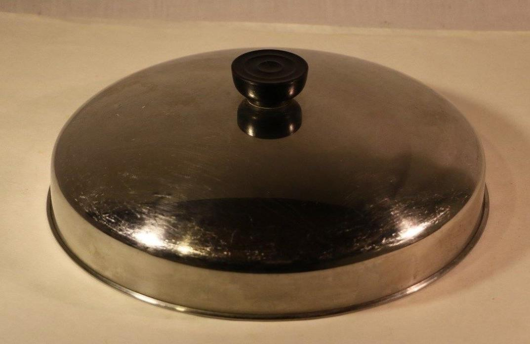 Vintage Revere Ware Large Stock Pot Lid Stainless Steel Clinton, ILL, USA