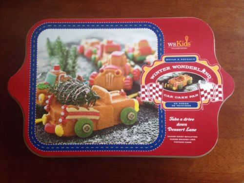 NEW! Williams Sonoma WS Kids Winter Wonderland Car Cake Pan 8 Different Cakes