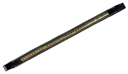 Gatsby Brass Clinchered Browband - Cob - Havana
