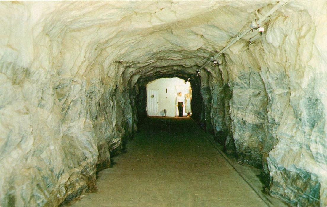 Elevator Passageway Chimney Rock North Carolina NC tunnel Postcard