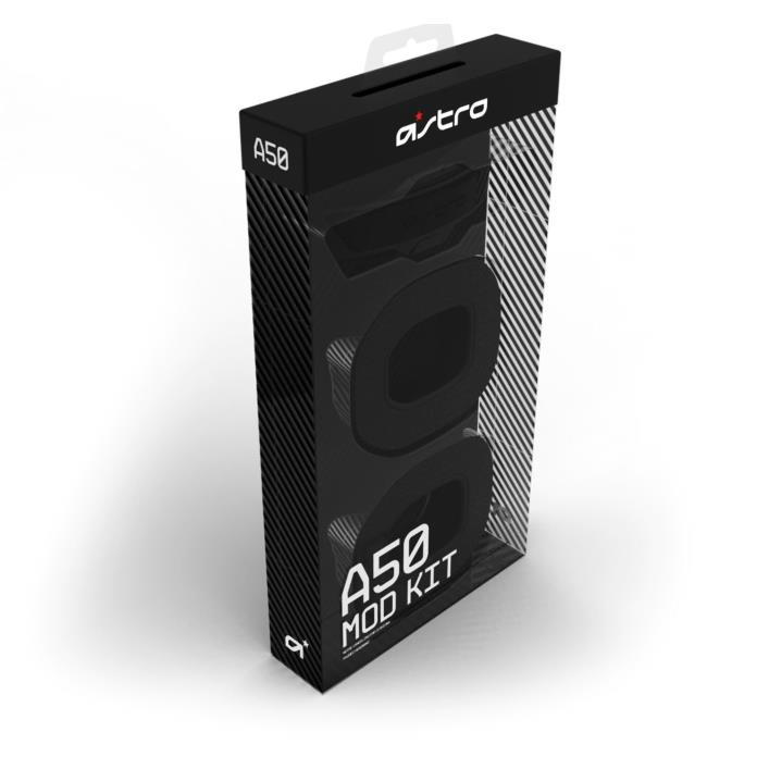 Astro A50 Mod Kit - Black - Noise Cancellation Ear Cushions and Padded Headband