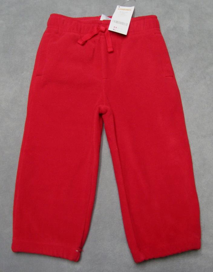 NEW Gymboree size 18-24 M Boys Snow Chillin Pants Red Fleece RV $22