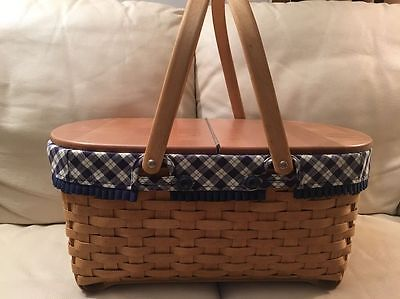 Longaberger 2004 Blue Ribbon Crafting Basket Combo