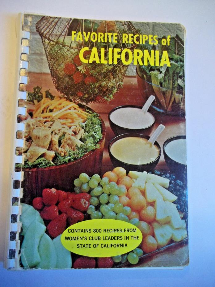 Favorite Recipes of California, 800 Recipes From Women's Club Leaders, 1964
