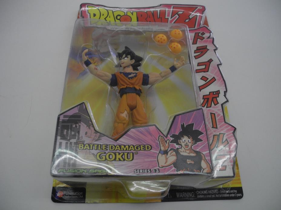 Dragonball Z Battle Damaged Goku Jakks Pacific New in box series 13 fusion saga