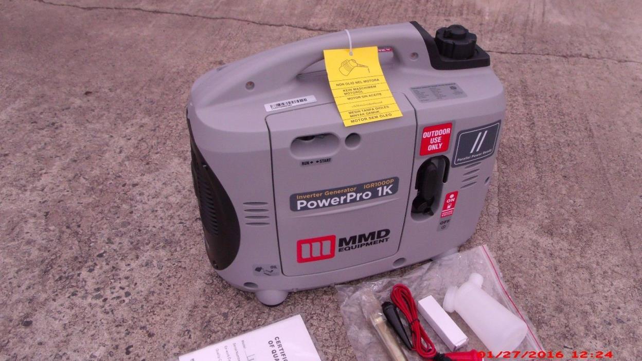 1,000 watt MMD Power PowerPro Inverter Generator, FREE ECONOMY SHIPPING