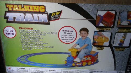 Kid Motorz Talking Train 6 Volt Battery Powered Ride On  615266002363