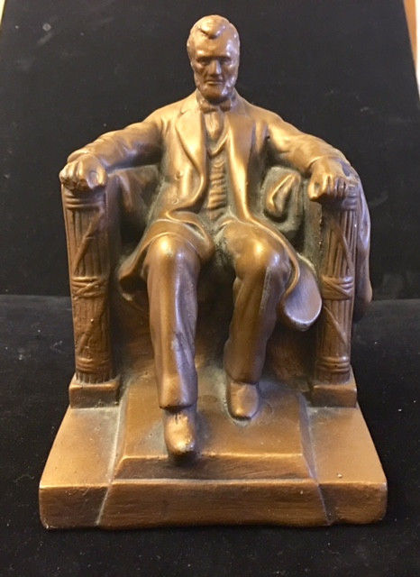 Alexander Backer Bronze Toned Lincoln Statue