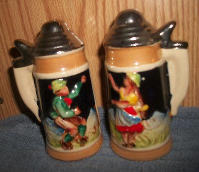Dancing Man & Woman Stein Salt & Pepper Shakers
