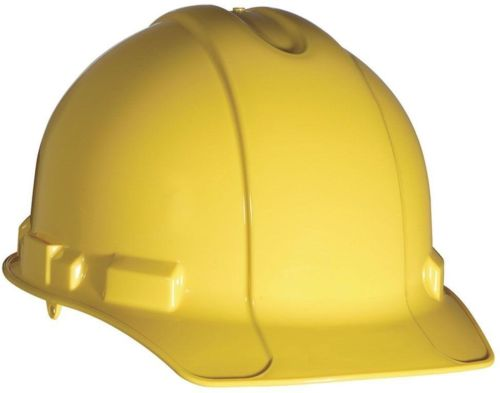 3M Yellow Non-Vented Hard Hat Pinlock Adjustment Safety Gear Work Job Equipment