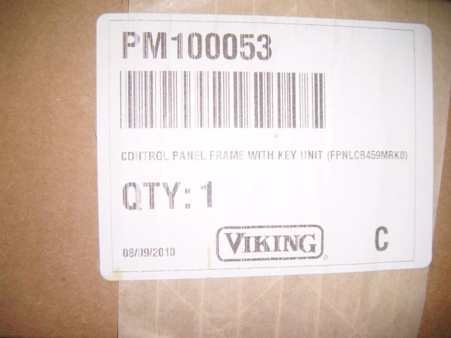 Viking Control Panel Frame with Key Unit (FPNLCB459MRKO) - Part # PM100053