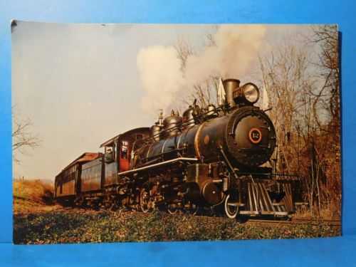 Postcard East Broad Top Railroad Passenger Train Engine #12 Oversized Postcard