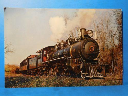 Postcard East Broad Top Railroad Passenger Train Engine #12 Oversized Postcard