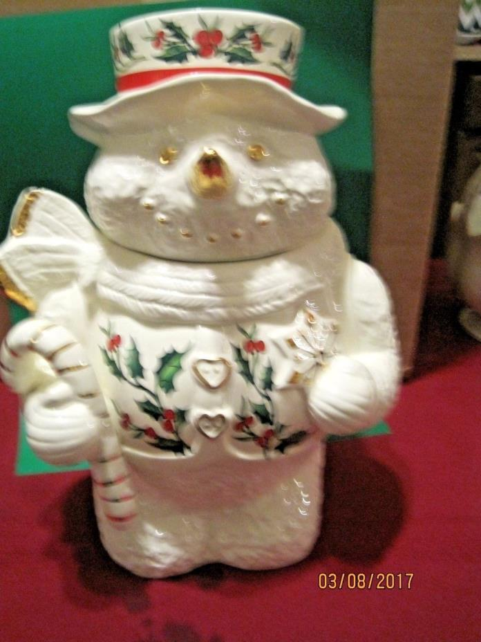Formalities by Baum Bros  Snowman Collection Cookie Jar