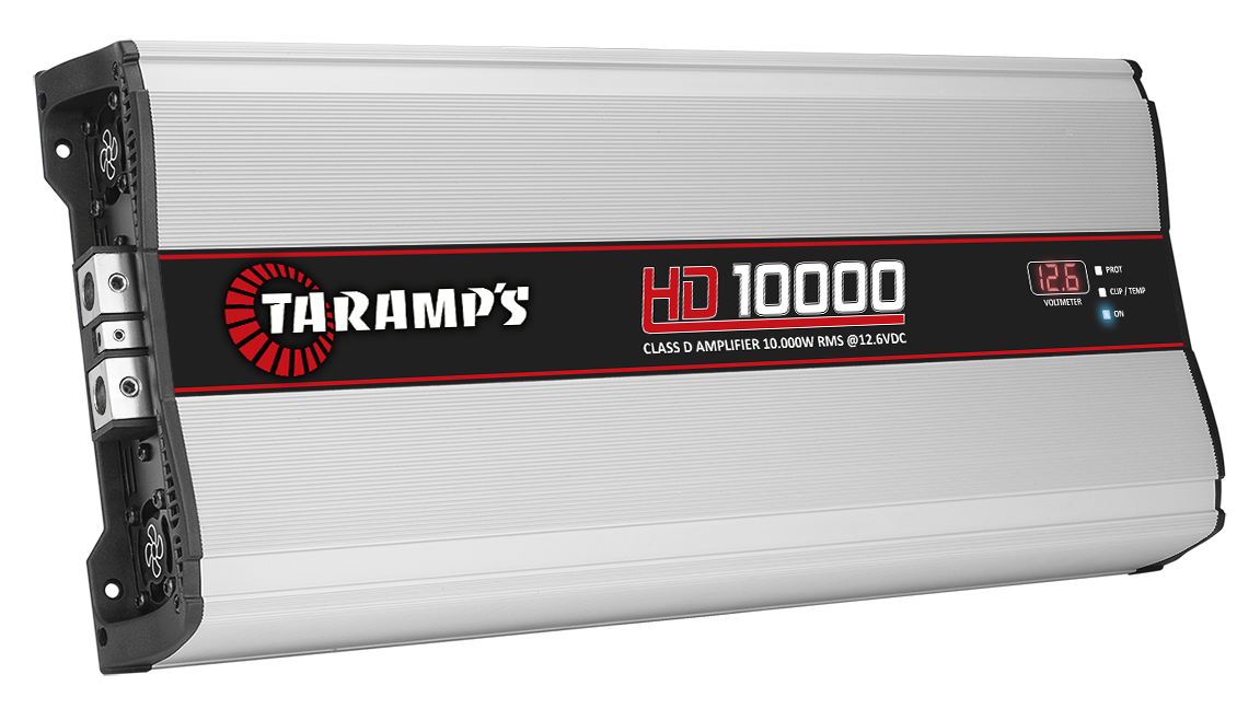 Taramps HD-10000 1 Channel 10000W RMS 1 OHM Power Car Amplifier