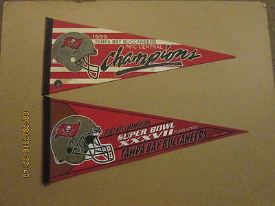 NFL Tampa Bay Buccaneers 1999 & 2002 Champions Pennants
