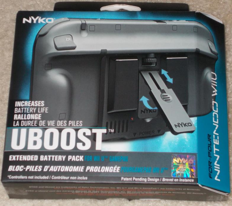 Uboost for Wii U Brand New Nyko Battery Booster Extender WII U Free Shipping