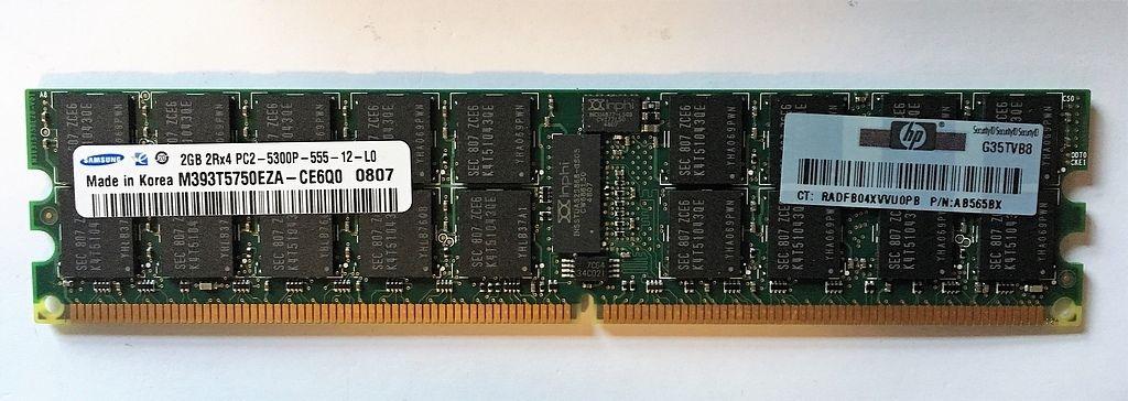 LOT OF16: HP AB565BX MEMORY 2GB PC2-5300P RAM