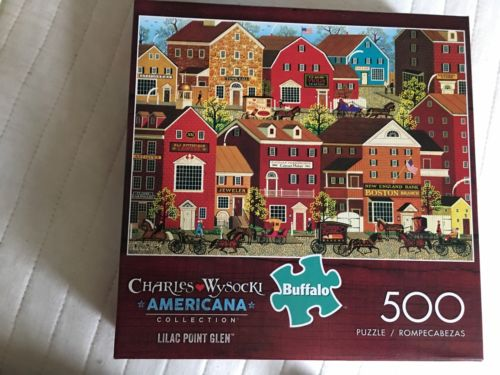 Charles Wysocki Puzzle 500 Pieces Lilac Point Glen