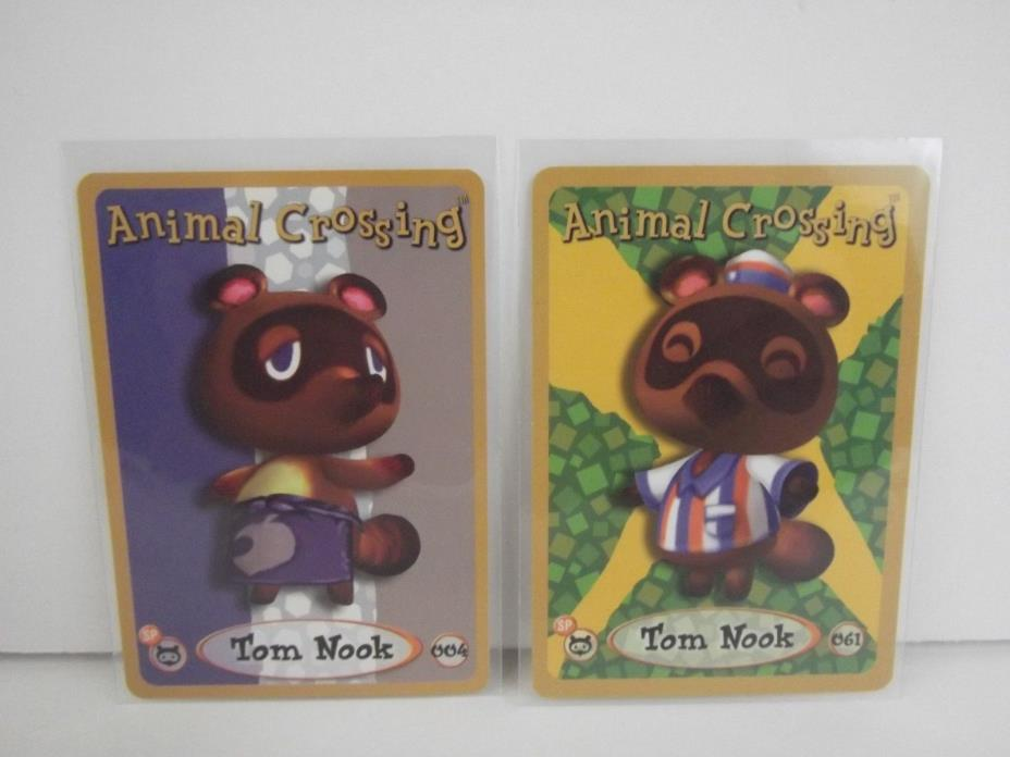 Animal Crossing Nintendo Game Boy E Reader Cards Tom Nook 004 061 lot of 2 L72