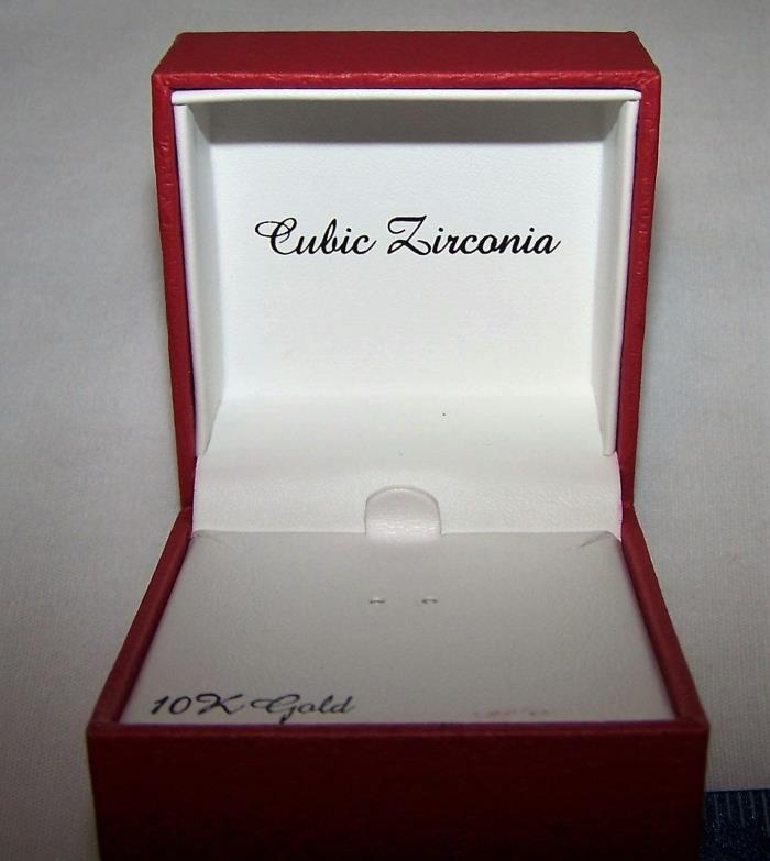Red Diamonds Empty Jewelry Box 2-1/4'' x 2-1/4'' x 1.5''
